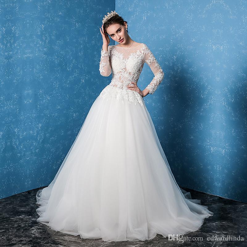 Großhandel 2017 Neue Einfache Koreanische Hochzeitskleid Der Braut ...