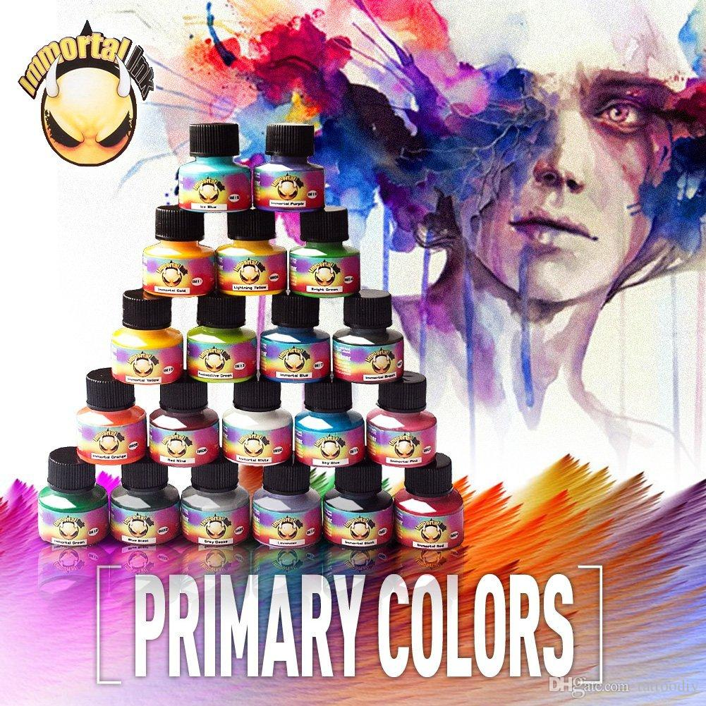 Multi Color Tattoo Ink Kits 5ml/Bottle USA IMMORTAL Tattoo Pigment ...