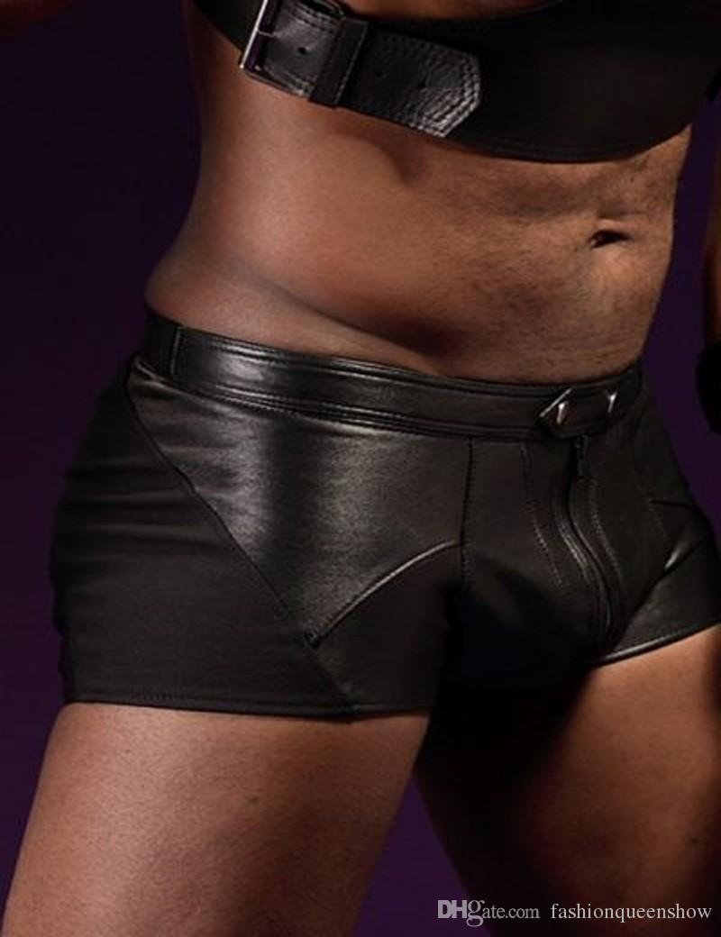 Hommes Faux Bodys Ceinture en cuir Lingerie ADULTE Homme Sexy Buckle Up Hauts Bandage Notte Costume Outfit Boîte de nuit