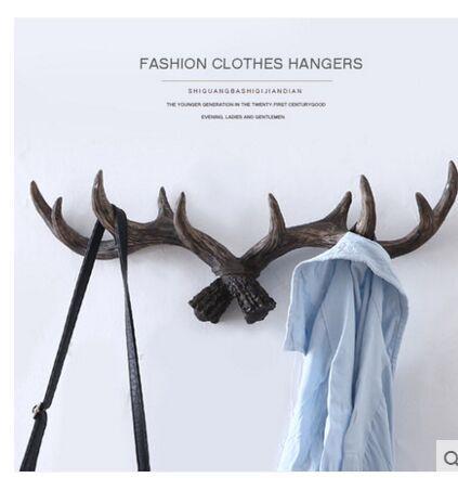 Wildlife Deer Antlers Rack Decorative Wall Hook Hangers Home Statue ...