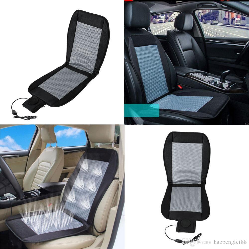 Cooling Car Seat Cushion Cover 12V Air Ventilated Fan Conditioned Cooler Pad Set Covers Cars Accessories From Haopengfei88