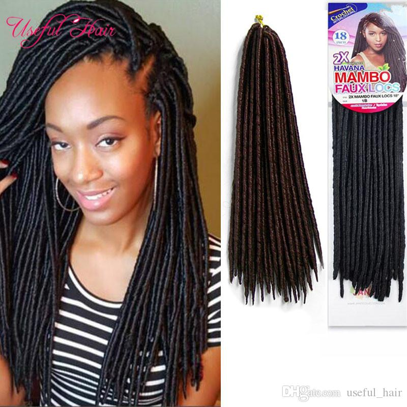 1418inch Faux Locs Crochet Braids Syntheitc Hair Extension Straight