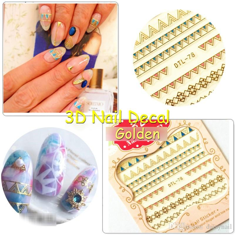 Foreverjasmine 3d Golden Striping Tape Nail Art Sticker Silvery