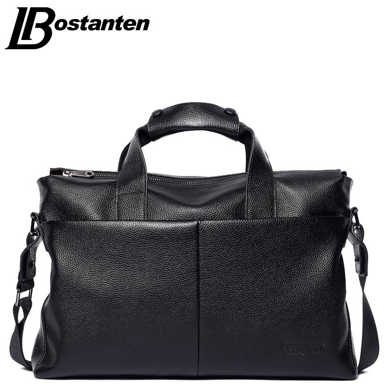 Wholesale Bostanten 2017 Men Genuine Leather Briefcase Messenger ...