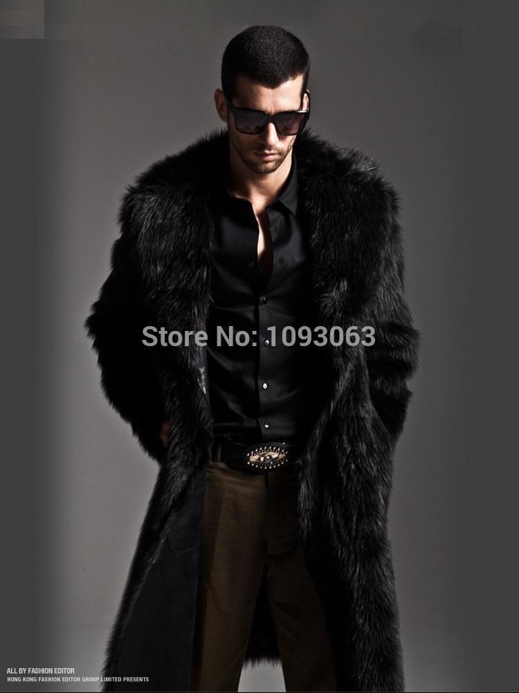 Mens faux fur parka coat