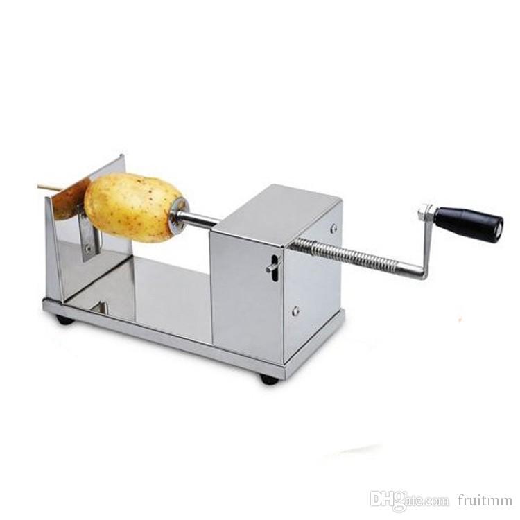 3 in 1 Tornado-Kartoffel / Twister-Kartoffel / Spiralkartoffelschneider + elektrische Fritteuse + 35 cm Bambus-Spieße