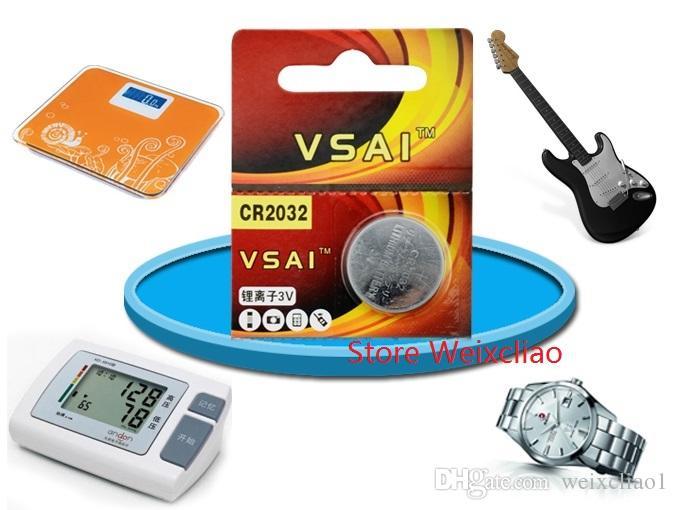 1 CR2032 3V lithium pile au lithium ion bouton pile CR 2032 3 volts li-ion batteries VSAI livraison gratuite