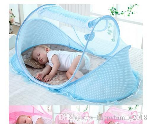 Merveilleux Spring Winter 0 3 Years Baby Bed Portable Foldable Baby Crib With Netting  Newborn Sleep Bed Travel Bed Baby 100%cotton Toile Crib Bedding Puppy Crib  Bedding ...