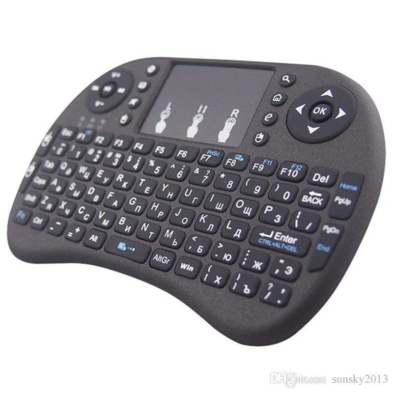 i8 2.4G Air Mouse Wireless Mini Clavier avec Touchpad Télécommande Gamepad pour Media Player Android TV Box HTPC MXQ Pro M8S X96 Mini PC