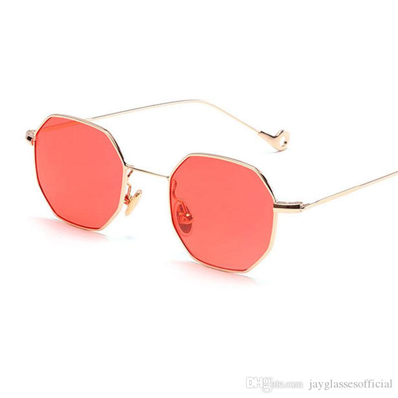 f709f8ba9ea Fashion Women Sunglasses Small Frame Polygon Clear Lens Sunglasses Brand  Designer Men Vintage Sunglasses Hexagon Metal Frame Mens Eyeglasses Sport  ...