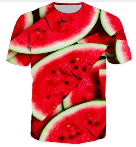 e20e7cde477 Compre Sandía La Más Nueva Moda Para Hombre   Mujer De Color Verde Y Rojo  Camiseta De Sandía Estilo De Verano Divertido Unisex Impresión 3D Camiseta  Casual ...