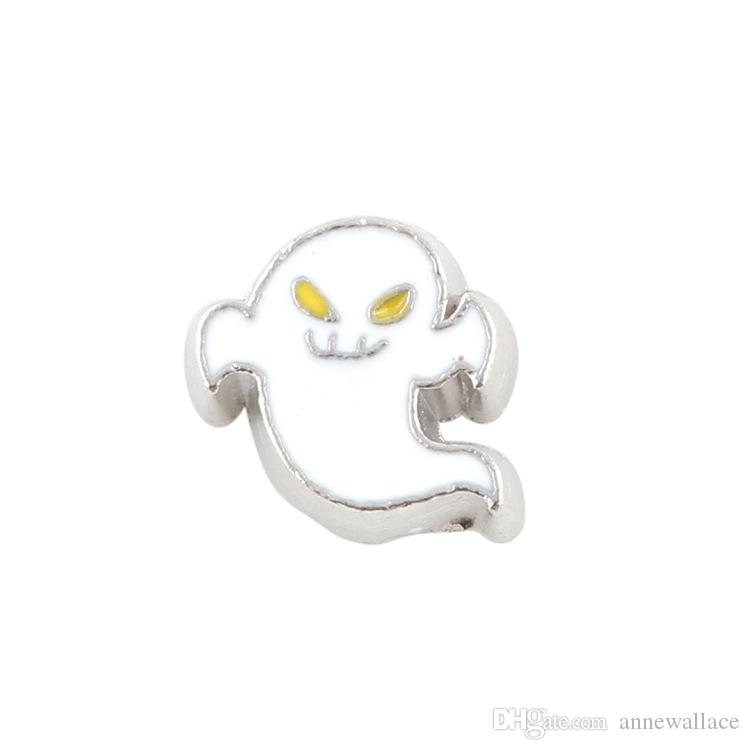 good quality new type alloy ghost floating charms for glass living memory lockets