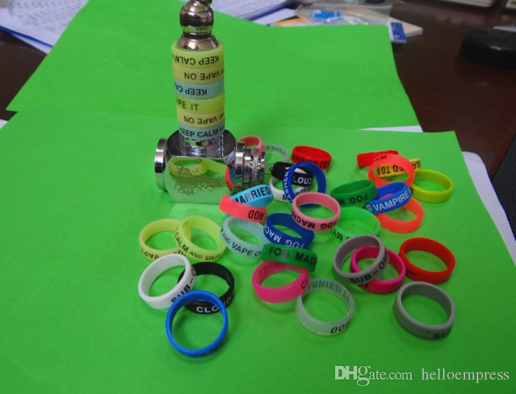 Livraison DHL Drop Shipping 22mm personnalisé Vape Bandes Silicone Bracelet Personnalisé Bande De Vapeur Silicone Bague Pour RDA Mods