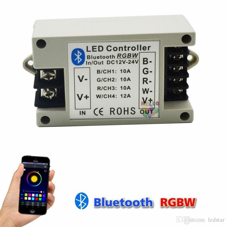 Bluetooth Rgbw Rgb Led Controller Bt Wireless Strip Download Image Ac Dc Converter 12v To 110v Circuit Pc Android Iphone 40 Control 24v 42a Support Ios Strips Rgbww