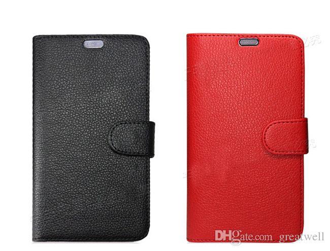 Funda de cuero con tapa para cartera universal de PU con cubierta de tarjeta de crédito para 3.5 a 6.0 para iphone Samsung LG HTC Nokia Sony