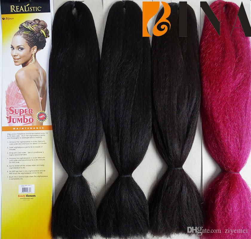 Super Jumbo Synthetic Braiding Hair Extensions Xpression 24inches