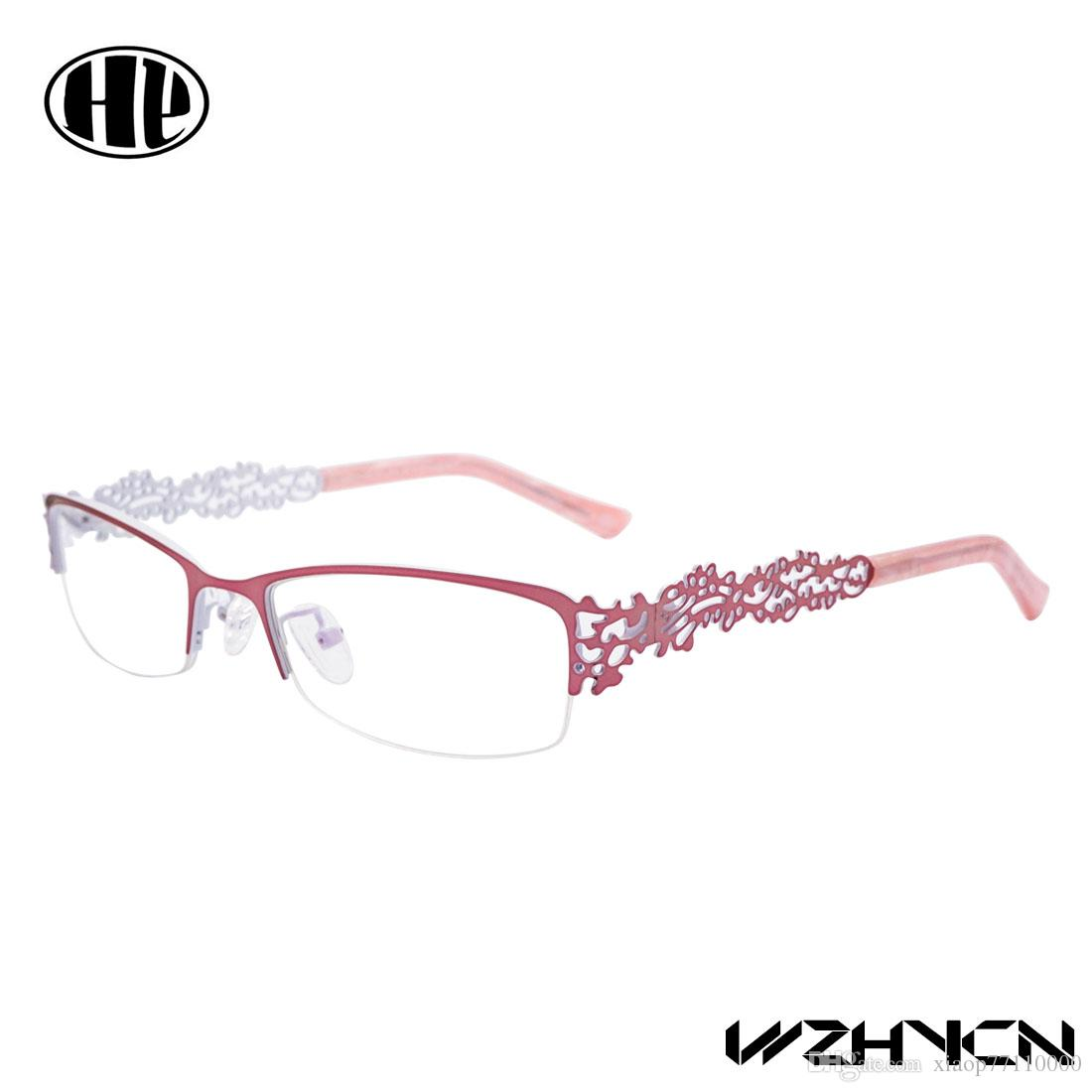 68fc37900cc 2017 Retro Women Glasses Frame Clear Lens Oculos De Grau Alloy Luxury Eye  Glasses Floral Optical Frames Vintage Eyewear Multi color