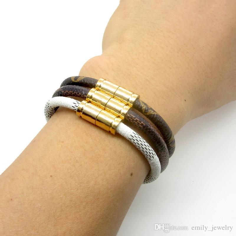 d789aca9e197 Acheter 18 Cm Vente Chaude En Acier Inoxydable 316L Nouvelle Mode Marque De Luxe  Bijoux Amour Bracelets Bracelets Pulseiras Bracelets En Cuir Pour Femmes ...