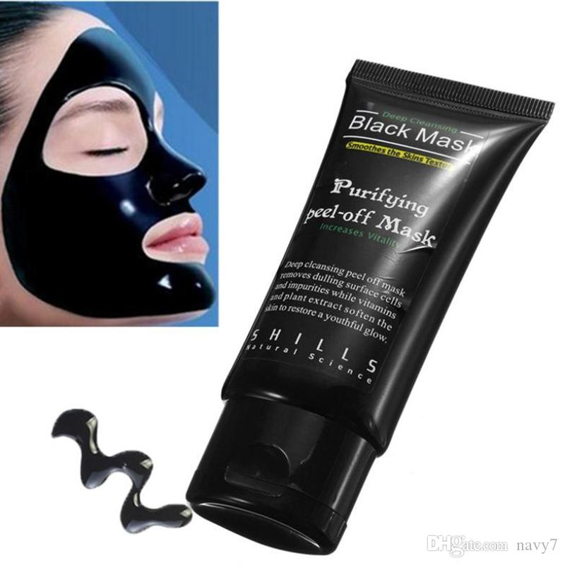 Hot Selling 50ml SHILLS Deep Cleansing purifying peel off Black mud Facail face mask Remove blackhead facial mask Shills Masks DHL Free