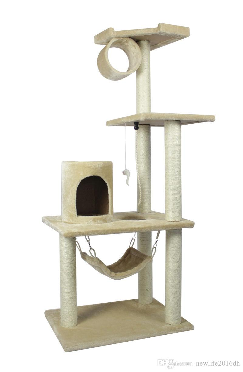 2018 New Beige Cat Tree Condo Furniture Scratch Post Pet House From  Newlife2016dh, $55.27 | Dhgate.Com