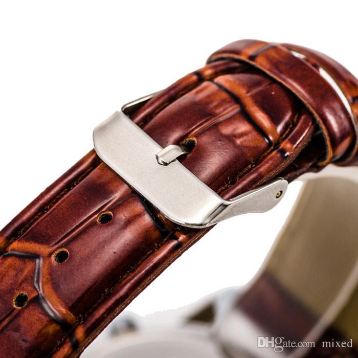 Orologi sportivi da uomo casual Orologi da uomo d'affari in pelle con cinturino in pelle al quarzo Orologi da uomo