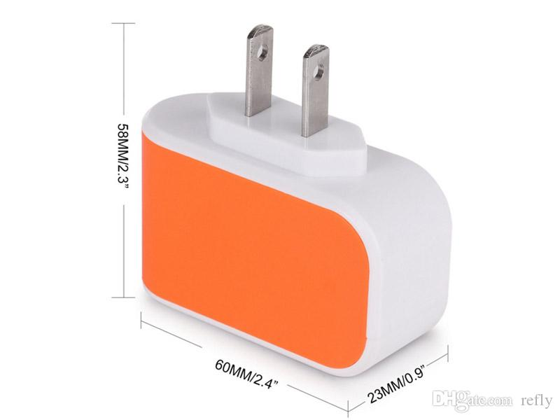 3 USB телефон зарядное устройство настенные зарядные устройства США ЕС подключите адаптер Универсальный адаптер питания с тройной USB-порты для мобильных телефонов iPhone Samsung