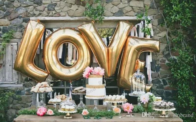 Wedding Balloons Love Marry Decorative Letters Aluminum Balloons