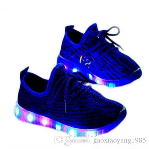 hot 2017 New Kids LED Shoes Children Casuals Shoes Baby Toddler Girls Boys Sports Shoes Kids LED Light Sneaker Baby Luminous