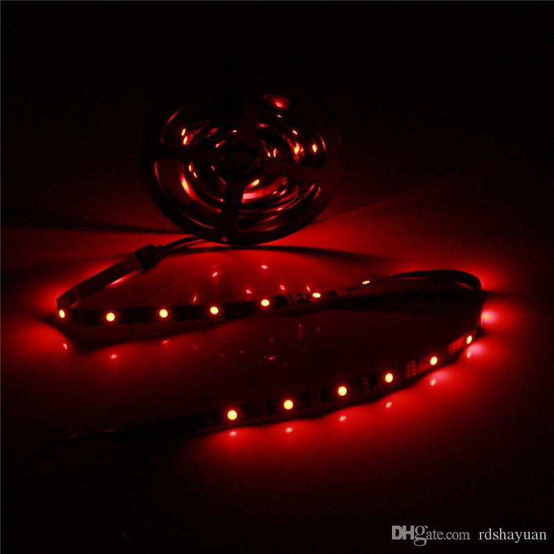 2x40cm +2x60cm 5050 SMD USB Flexible LED Strip Light Lamp Kit for TV PC Computer Background Decor Power RGB Controller 5V