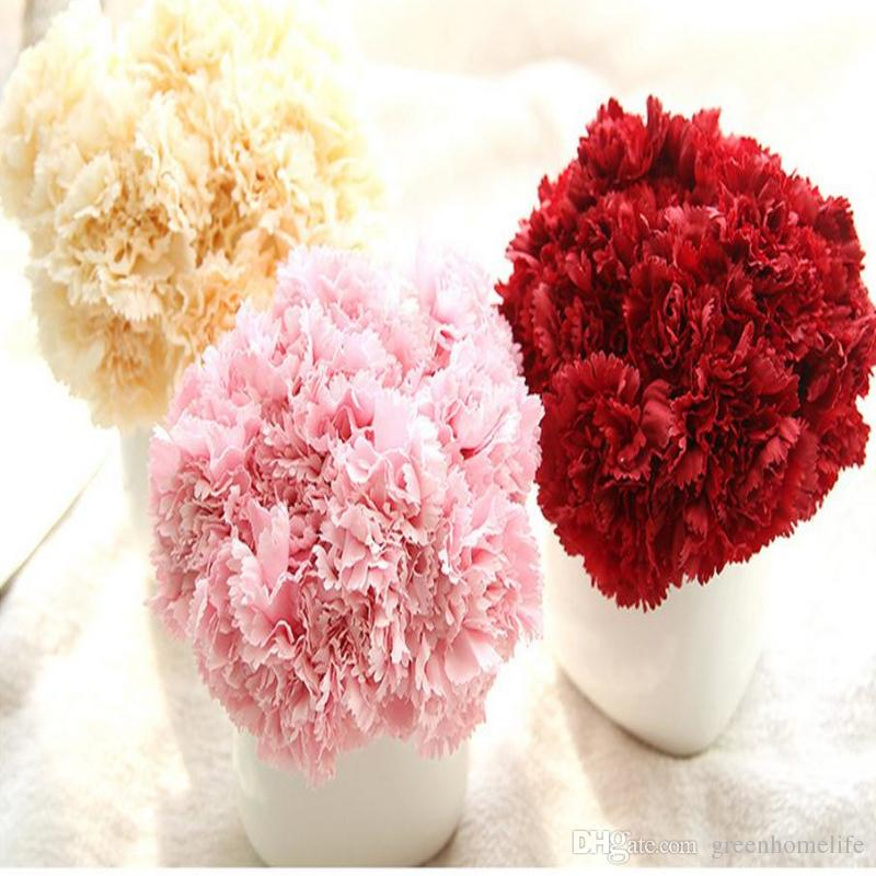 Wholesale artificial flowers silk fower 6 branches artificial flower wholesale artificial flowers silk fower 6 branches artificial flower carnation bouquet for mothers day gift diy wedding home decoration wedding carnations mightylinksfo