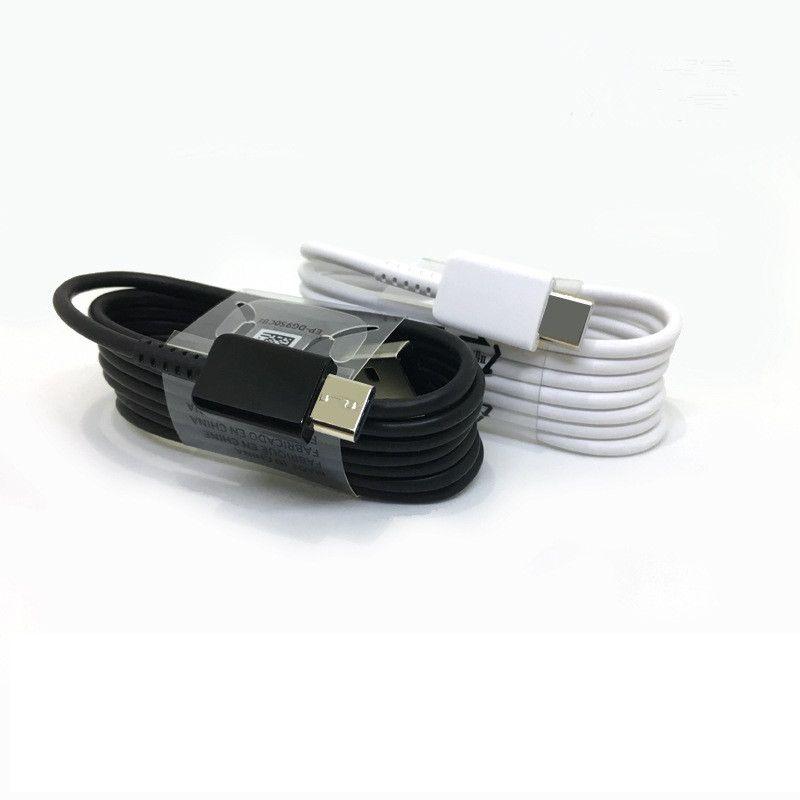 Samsung Not 8 S8 S8 için USB Tip-C Kablosu Artı 1.2 M Kablo Tipi-C Cihazı Hızlı Şarj Sync Veri Kablosu Şarj