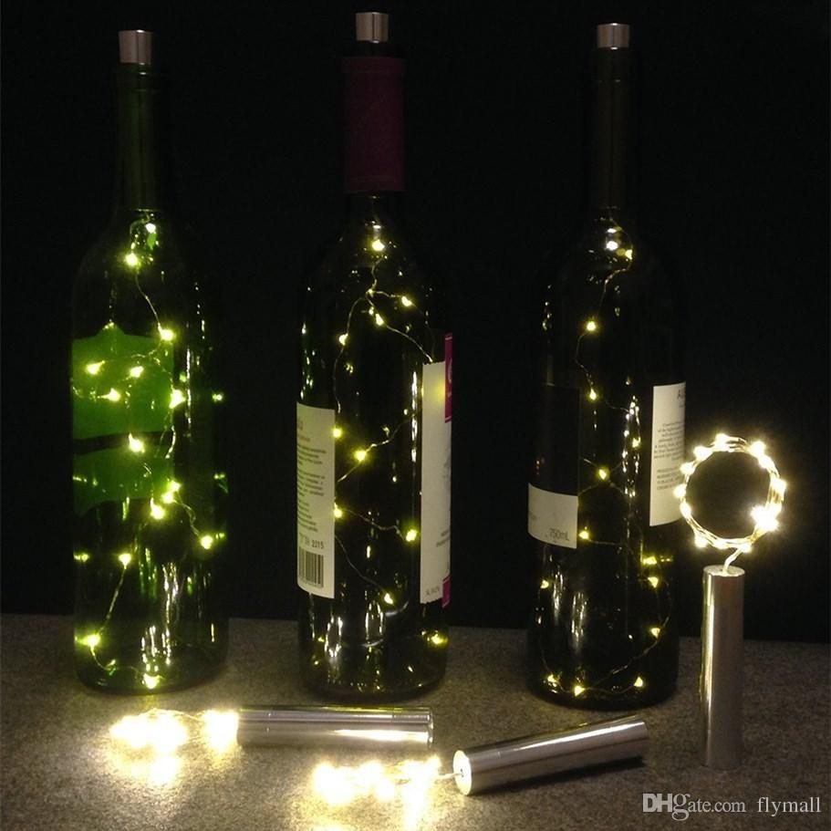 15 LED Starry String Lights AA Battery Wine Bottle Lights with Cork for Bedroom Party Table Decor Christmas Halloween Wedding Centerpieces