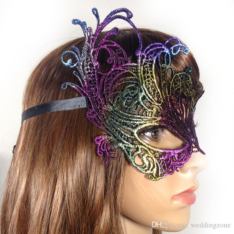 Halloween Sexy Masquerade Masks Gilding Lace Masks Venetian Half Face Mask Nightclub mask Eye Mask For Cosplay Party Christmas Day