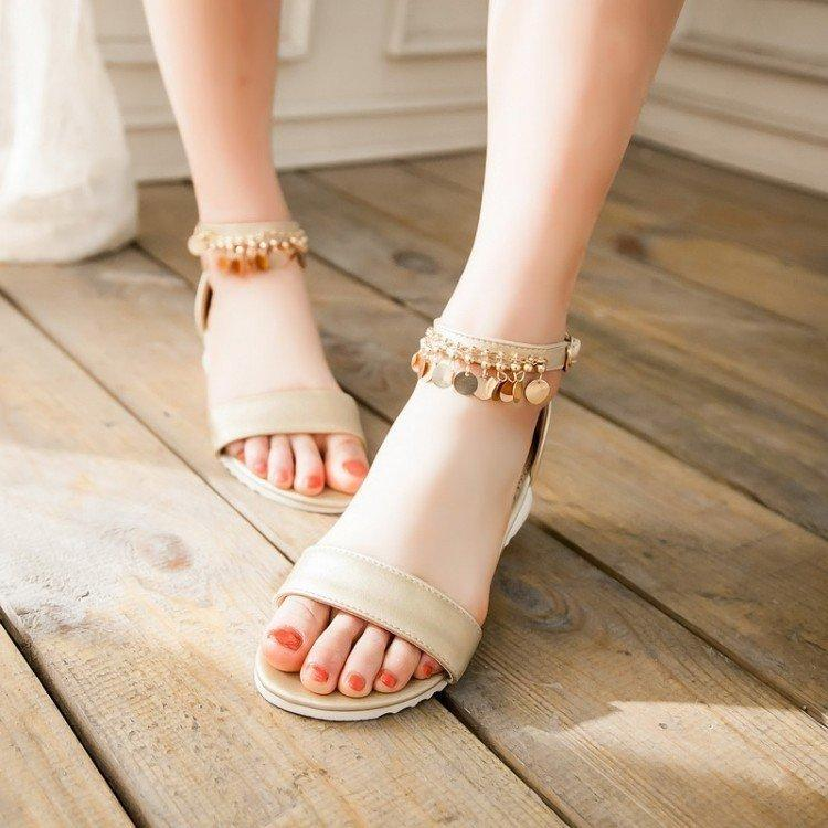 2017 New Style Summer Shoes Flat Sandals Women Pu Leather ...