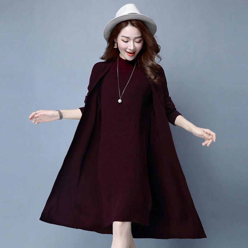 11c3f7d4ac Winter Autumn Women Sweater Dresses Long Sleeve Knitted Wool Sweater Dress  Female Straight Dress Woman Clothing Pageant Dresses Dresses Uk From  Winkiya