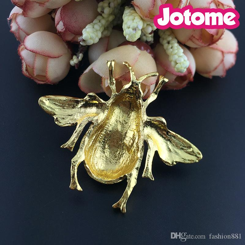 Bumble smalto tono oro insetto bumble miele spilla pin spilla collare pin spilla le donne