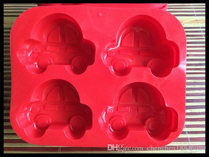 Cartoon car cake Mold Flexible Silicone Soap Mold For Handmade Soap Candle Candy bakeware baking moulds kitchen tools ice molds