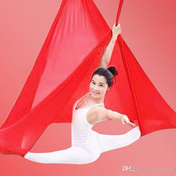 Wholesale Popular Fitness Exercise Yoga Hammock Gym Yoga belt Stretch Yoga Strap Swing Bed Training Solid Color