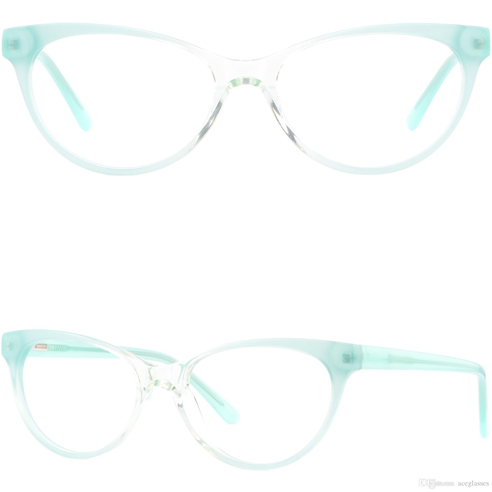 32cd432342 Light Womens Cateye Plastic Frame Spring Hinges Acetate Glasses Eyeglasses  Green Glasses Frame Online with  28.69 Piece on Aceglasses s Store