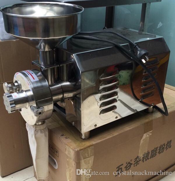 110 v 220 V Ticari Tahıl Değirmeni 2.2kw Biber Tozu Makinesi Fiyatları Susam Biber Taşlama Makinesi Paslanmaz Çelik Baharat Ot Değirmeni