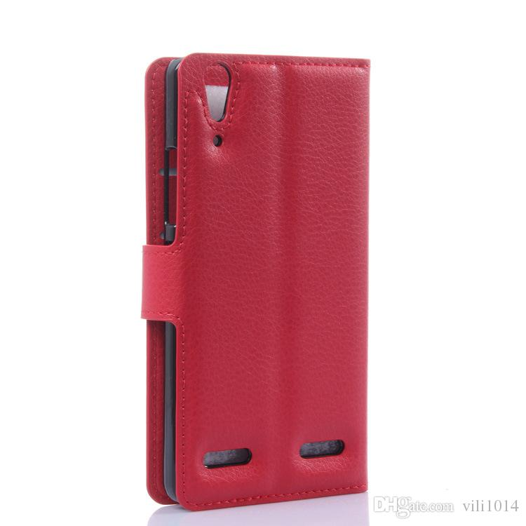PU leather case for Lenovo K3 K3 note A536 A319 A859 S90 S850 protective cover holder wallet skin shell Lichee Flip stand Cases