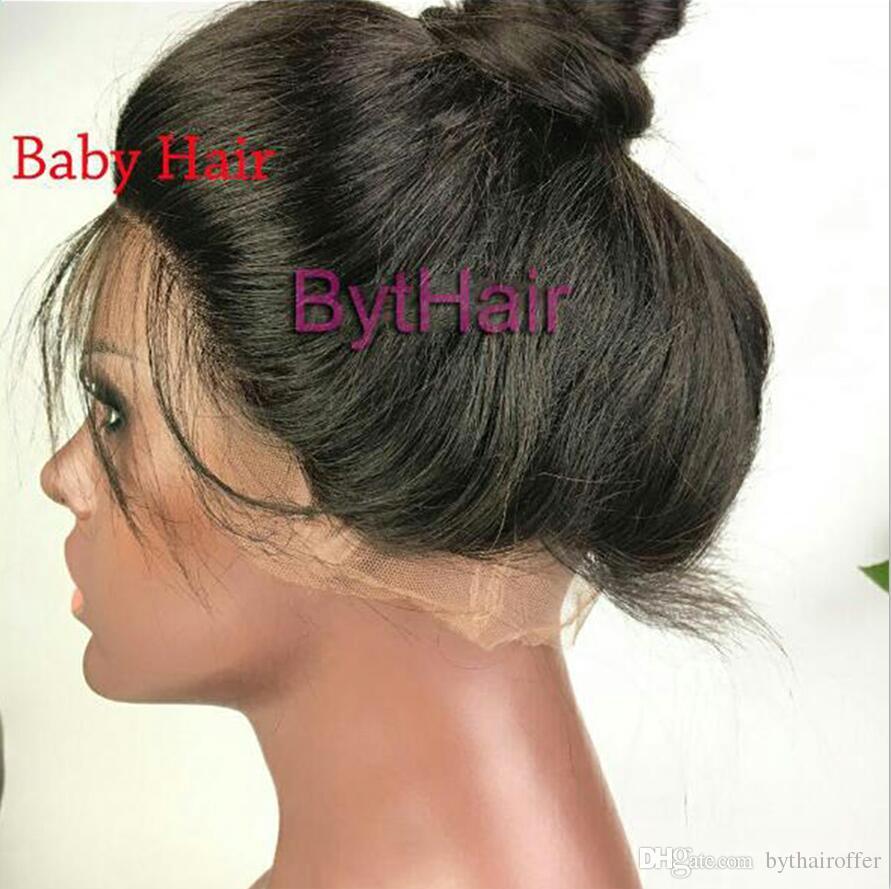 Bythair Brasilianisches Menschenhaar Volle Spitzeperücken Reine Haar Wellenförmige Glueless Volle Spitzeperücken Für Schwarze Frauen Lace Front Perücken Mit Dem Babyhaar