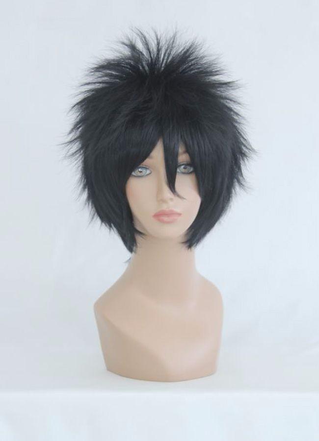 Livraison gratuite Naruto-Uchiha Sasuke court noir cool mâle perruque Costume Cosplay