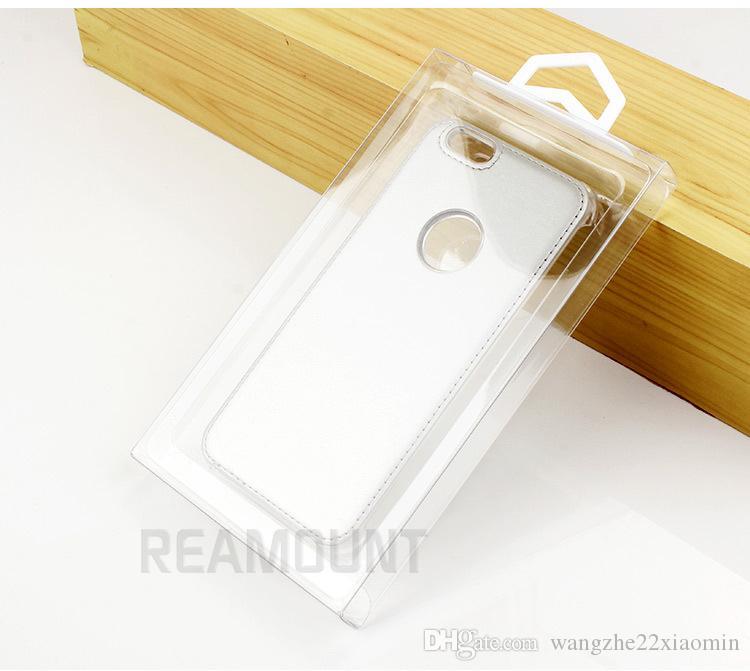 Großhandel Universal DIY Benutzerdefinierte LOGO transparente PVC-Kasten für iphone Verpackung 7 7 Plus-Kasten mit Innenfach