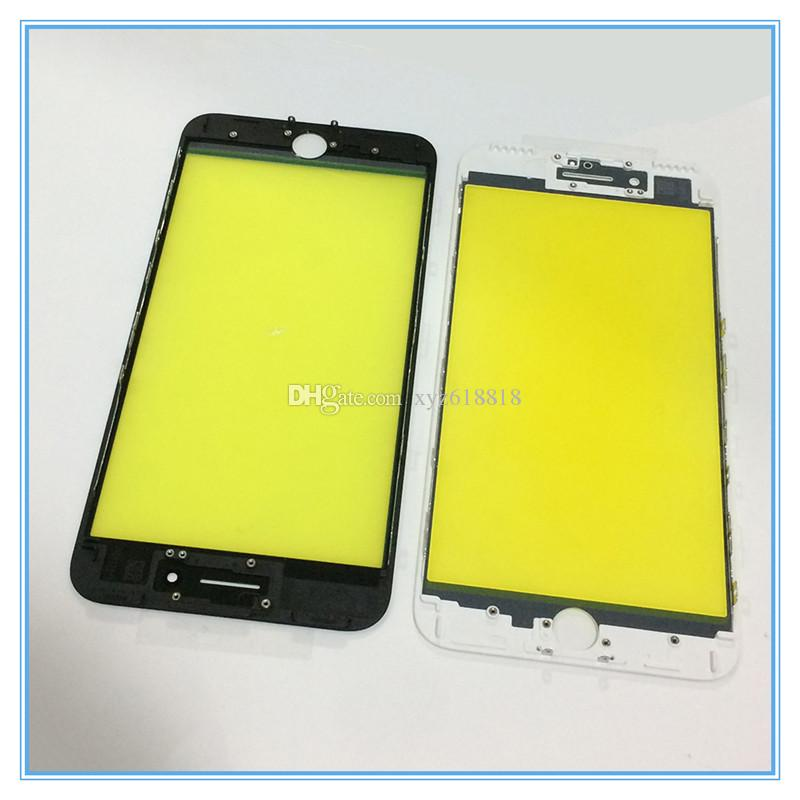 LCD Touch Screen Panel Outer Glass with Middle Frame Bezel For iPhone 6 6S 6G 7 7 Plus Pre-Assembled Refurbished Parts