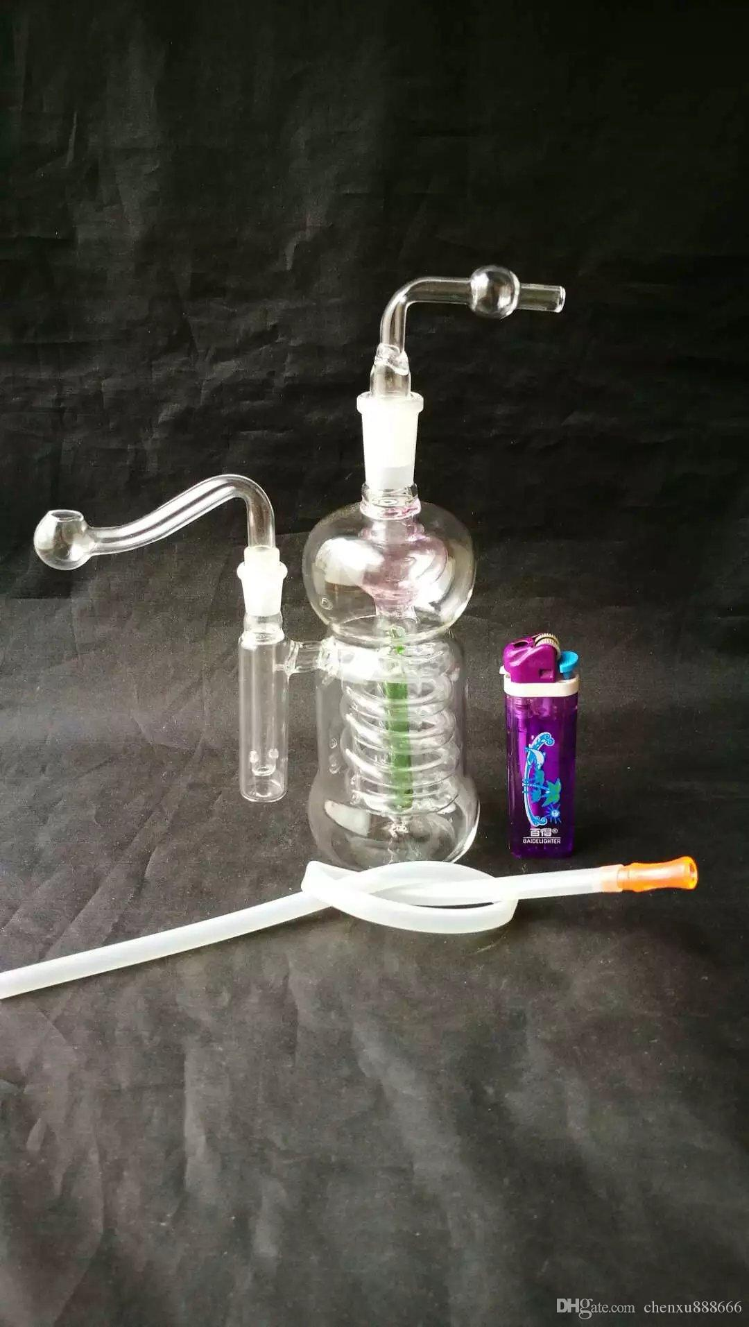 Spina zucca piatto narghilè di seta all'ingrosso di vetro narghilè, raccordi tubi di acqua di vetro, spedizione gratuita