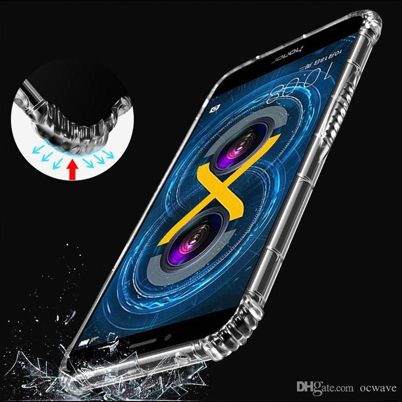 newest 21a71 50059 OCWAVE Soft Case For Huawei Honor 6X Clear Transparent Covers ...