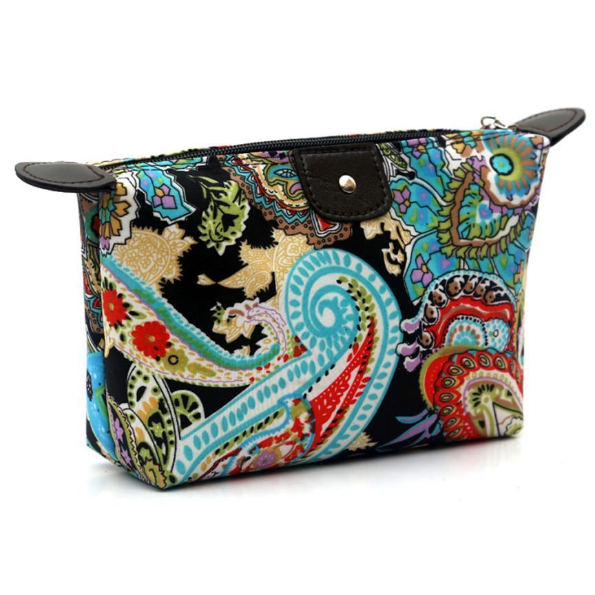 946588b14b Wholesale Women Cosmetic Bag Floral Printing Zipper Travel Make Up Pouch Bag  Vintage Storage Bag Bolsa Maquiagem  8419 UK 2019 From Universe111