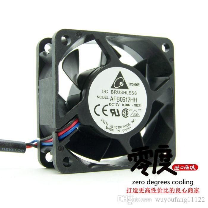 Original Taiwan 6025 AFB0612HH 12V 0 20A 60 * 60 * 25MM double ball car  inverter inverter cooling fan