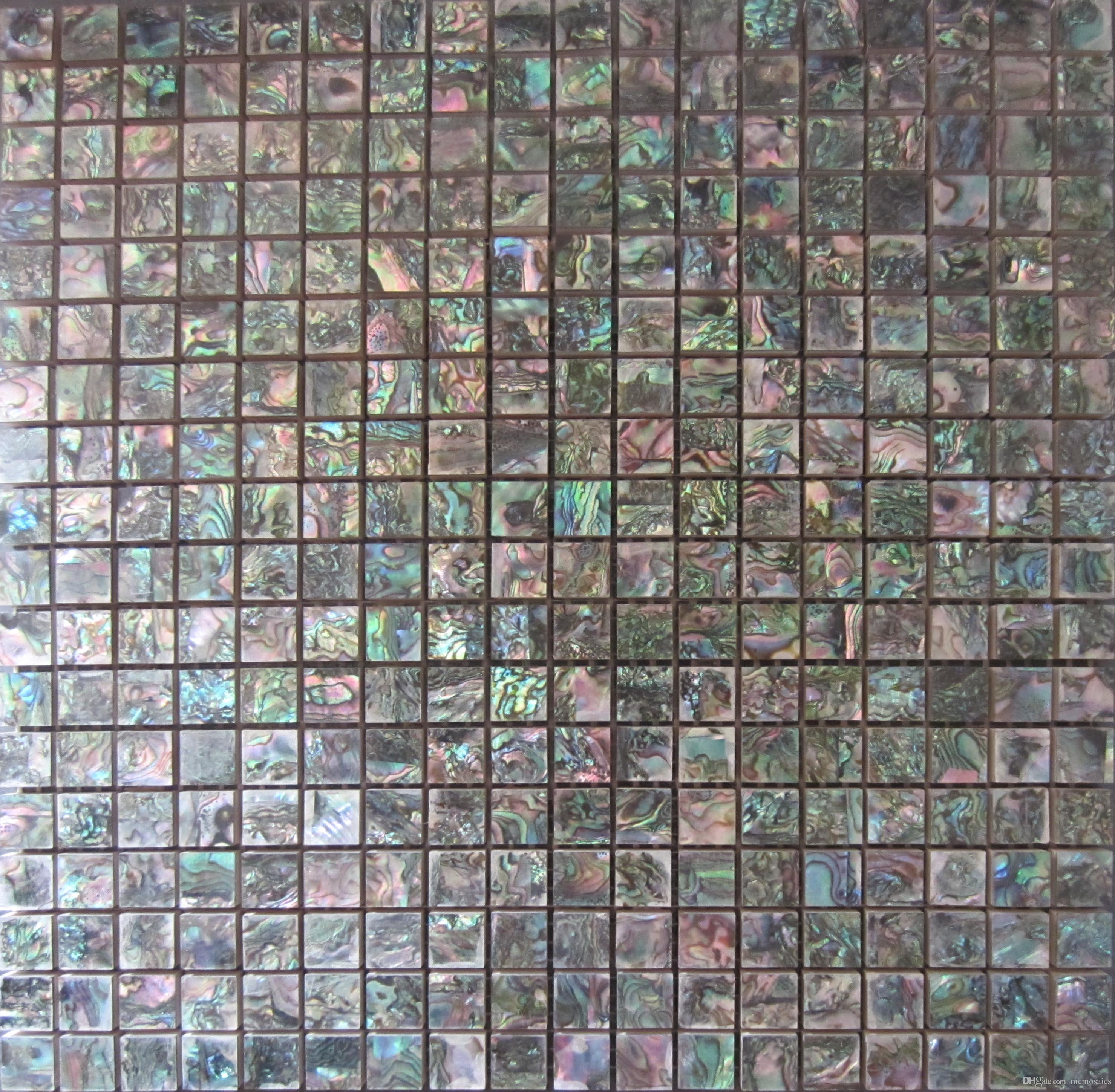2017 natural abalone green seashell mosaic tiles mini square